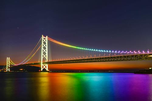作品名:明石海峡大橋夕景